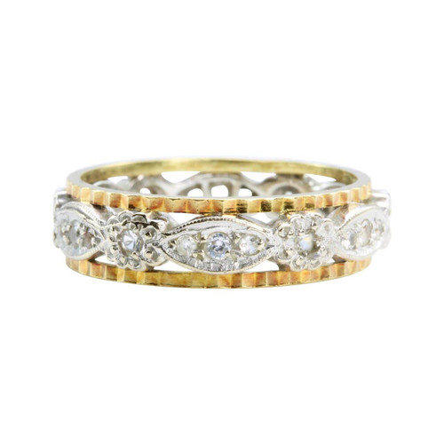 Second Hand 18ct Gold Spinel Full Eternity Ring