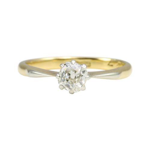 Antique 18ct Gold Solitaire Diamond Engagement Ring