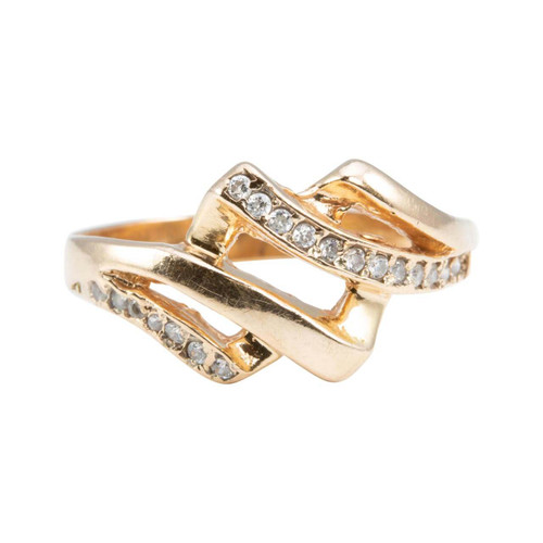 Second Hand 14ct Rose Gold Cubic Zirconia Dress Ring