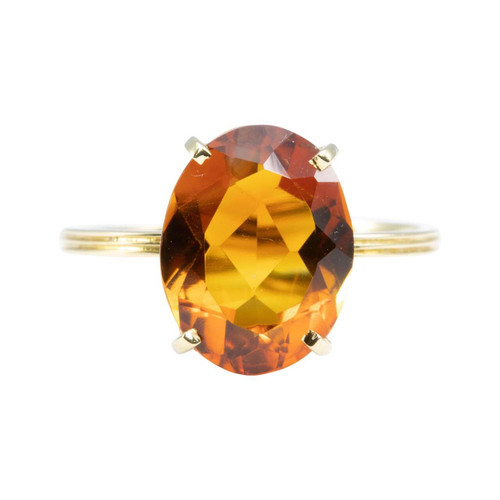 Second Hand 18ct Gold Palmeira Citrine Single Stone Ring
