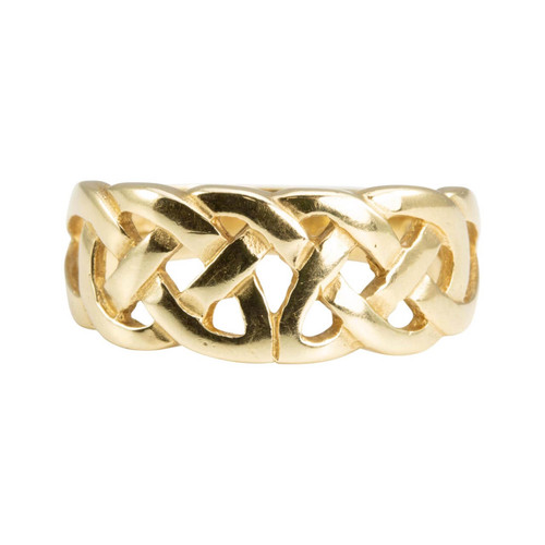 Second Hand Modern 9ct Gold Celtic Band Ring