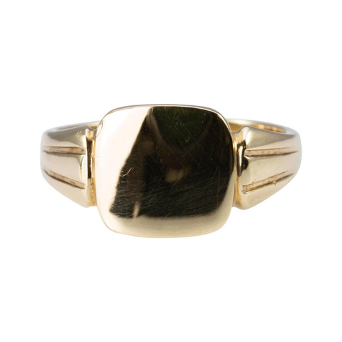 Second Hand Cushion Face 9ct Gold Signet Ring