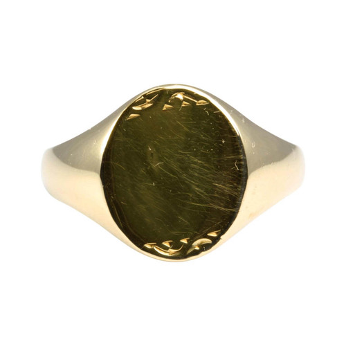 Second Hand 9ct Gold Oval Faced Signet Ring