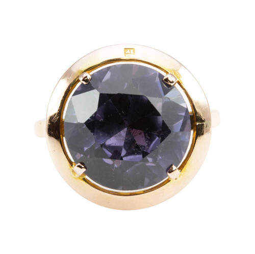Second Hand 9ct Gold Single Stone Large Alexandrite Ring
