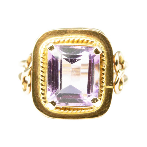 Second Hand 14ct Rose Gold Amethyst Dress Ring