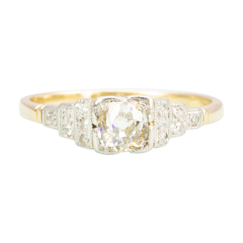 Antique Art Deco 18ct Gold Diamond Engagement Ring