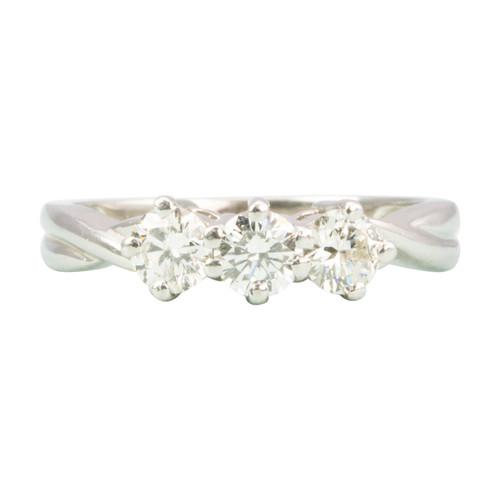 Second Hand Platinum 0.50 Carat 3 Stone Diamond Ring
