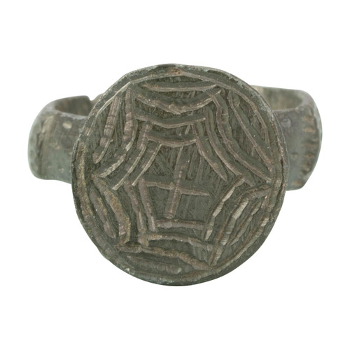 Medieval Byzantine Bronze Cross Ring