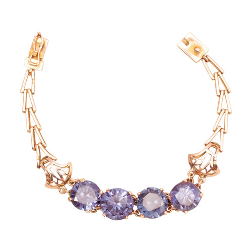 Second Hand 14ct Gold Alexandrite Bracelet