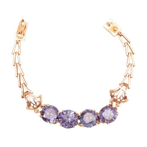 Second Hand 14ct Gold Alexandrite Bracelet