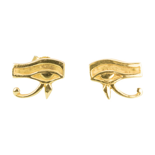 Second Hand 18ct Gold Egyptian Eye of Horus Stud Earrings
