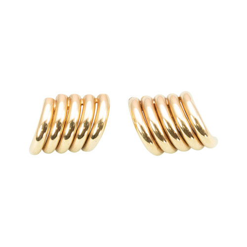 Second Hand 9ct Gold Five Tube Stud Earrings