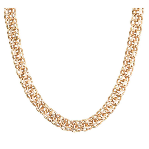 Second Hand 14ct Rose Gold Heavy Twin Flat Link Chain Necklace