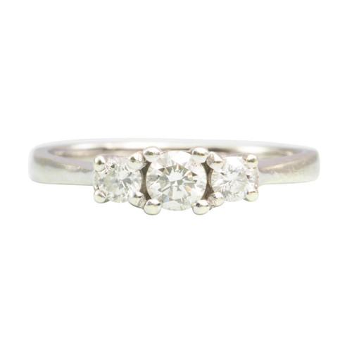 Second Hand 9ct White Gold 3 Stone Diamond Ring