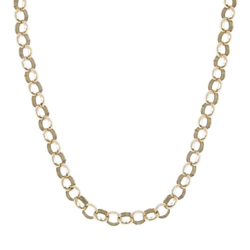 "Second Hand 9ct Gold 20"" Belcher Chain Necklace"