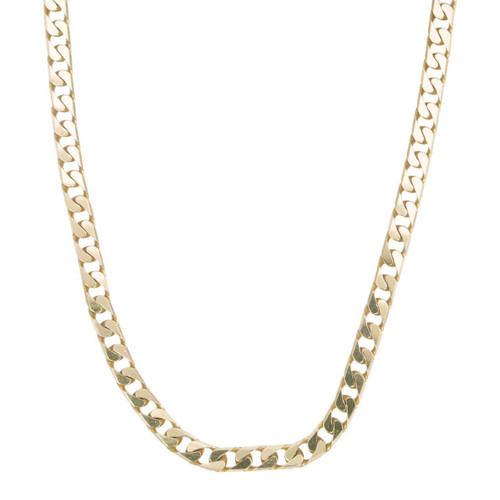Second Hand 9ct Gold Flat Curb Chain Necklace 22""