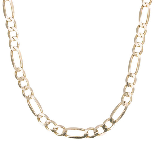 "Second Hand 9ct Gold 18"" Figaro Chain Necklace"