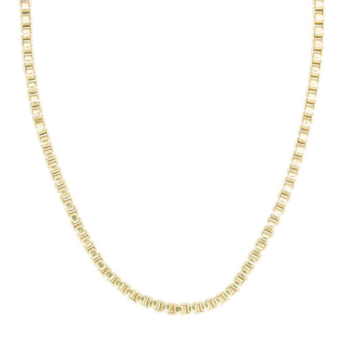 "Second Hand 18ct Gold 20"" Box Chain Necklace"
