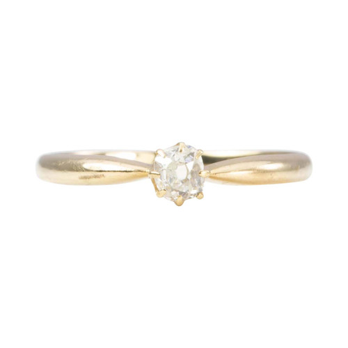 Vintage 18ct Gold Single Stone Old Cut Diamond Engagement Ring