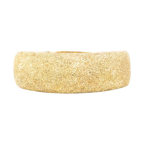Second Hand 18ct Gold Wide Glitter Ring