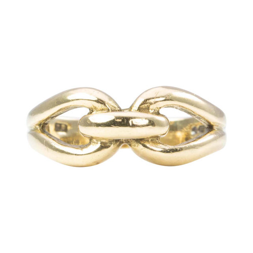 Second Hand 9ct Gold Double Loop Ring