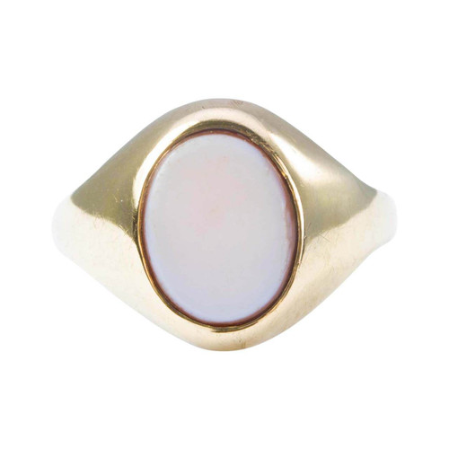 Second Hand 9ct Gold Sardonyx Small Signet Ring