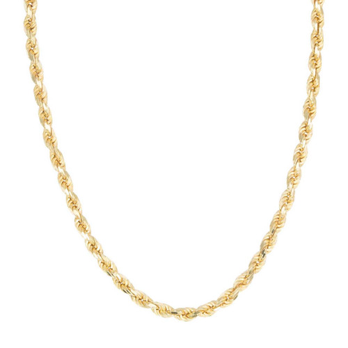"Second Hand 9ct Gold 20"" Solid Rope Chain Necklace"