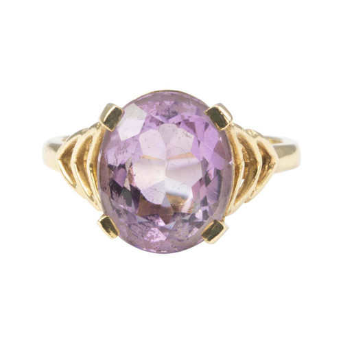 Vintage 9ct Gold Amethyst Dress Ring