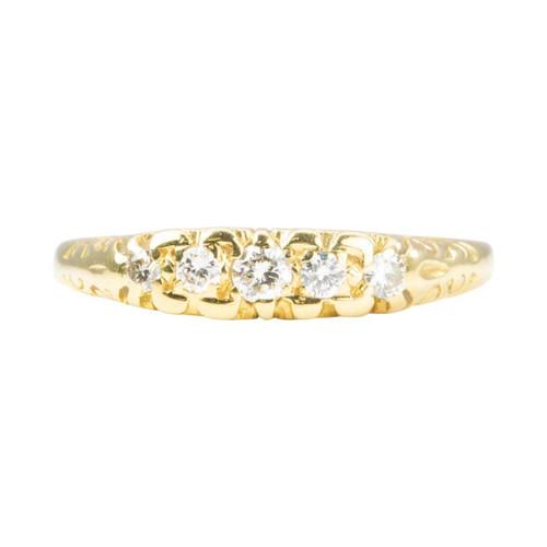 Second Hand 18ct Gold 5 Stone Diamond Ring