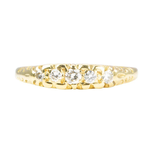 Second Hand 18ct Gold 5 Stone Diamond Ring