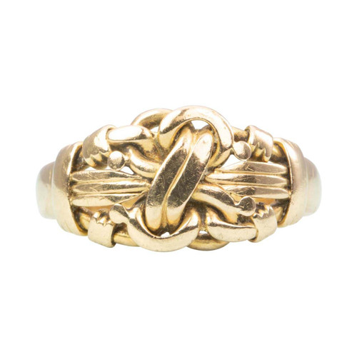 Antique Edwardian 18ct Gold Lovers Knot Ring