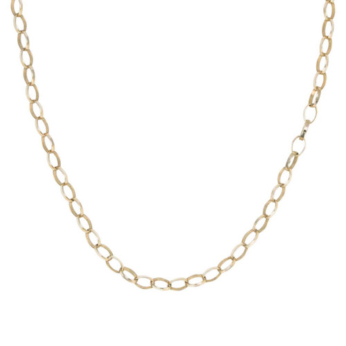 "Second Hand 9ct Gold 24"" Oval Belcher Chain Necklace"