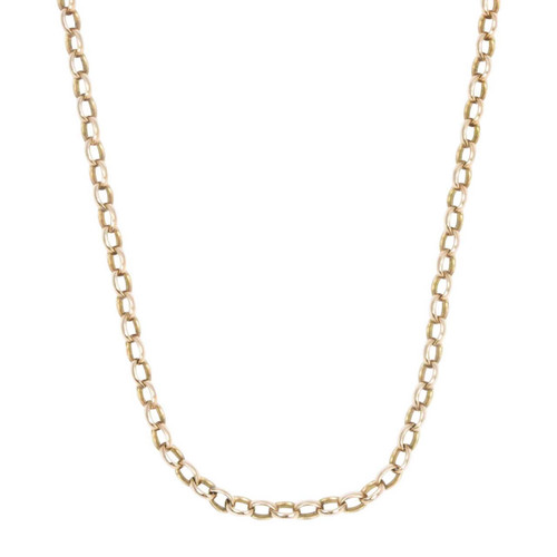 "Vintage 9ct Gold 24"" Belcher Chain Necklace"