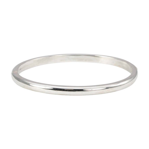 Second Hand 9ct White Gold Plain Bangle