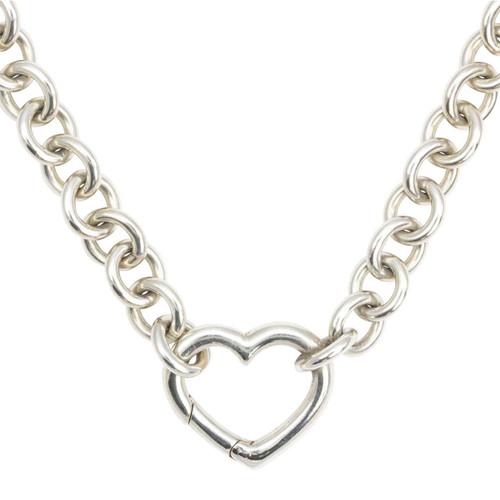 Second Hand Tiffany & Co Open Heart Pendant & Chain