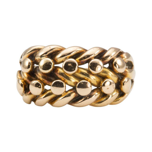 Antique 18ct Rose Tinged Gold Keeper Ring