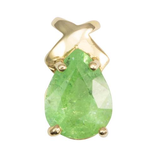 Second Hand 14ct Gold Emerald Teardrop Pendant