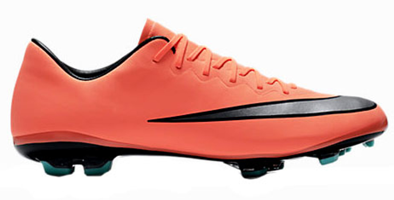 hot sales 2ae32 f7f42 NIKE MERCURIAL VICTORY FG bright mango junior firm ground cleats