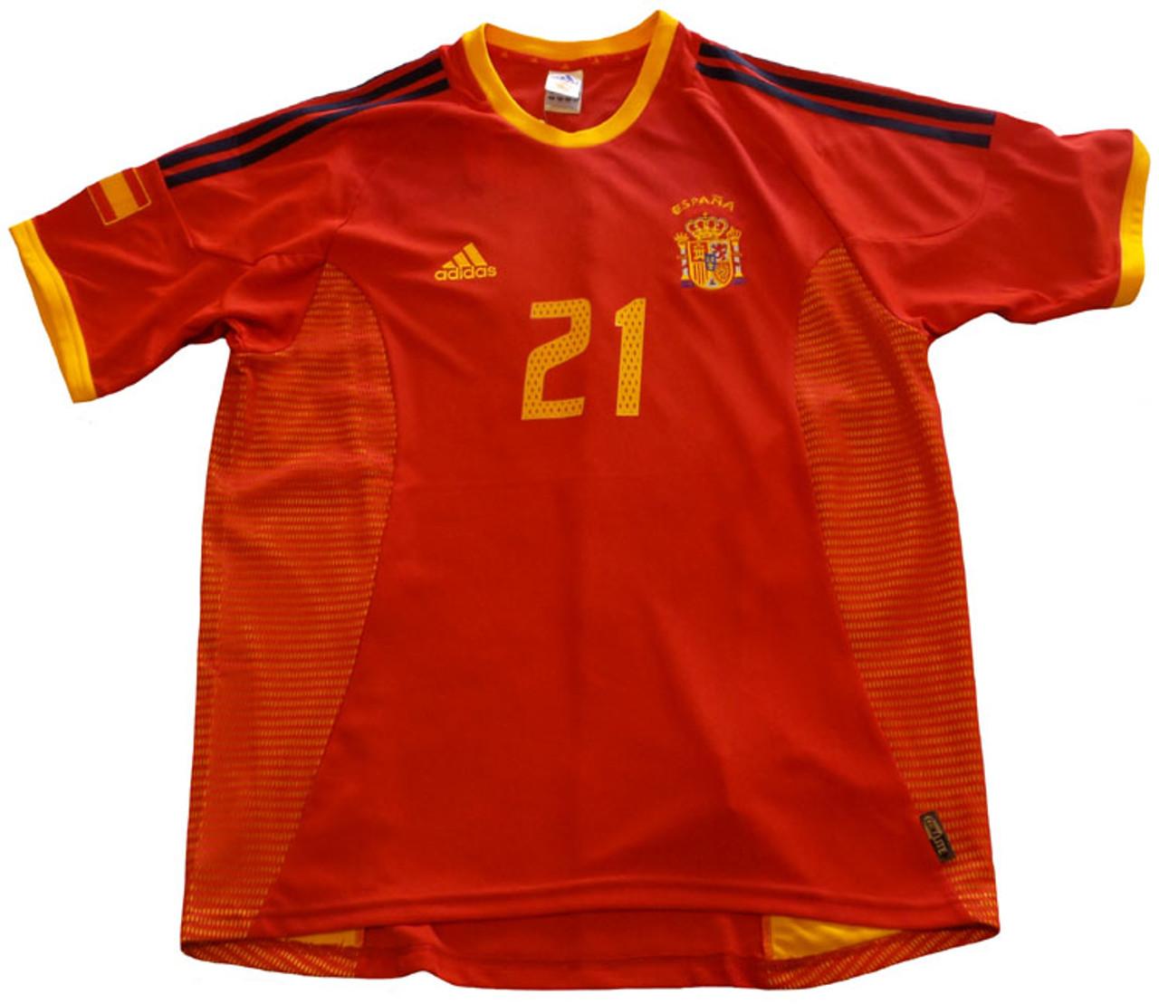 ADIDAS SPAIN 2002 `LUIS ENRIQUE` HOME JERSEY - Soccer Plus da3cee6cd