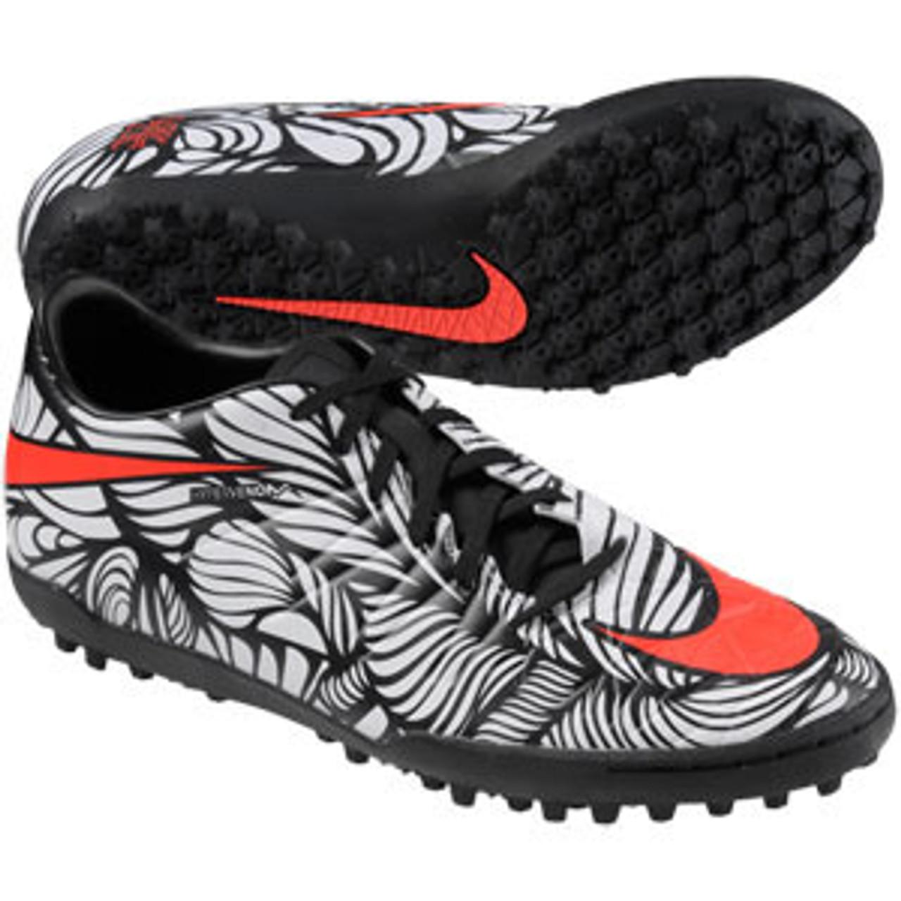 paso Hobart Fiordo  NIKE HYPERVENOM PHELON II NJR TF turf soccer shoes black/crimson - Soccer  Plus