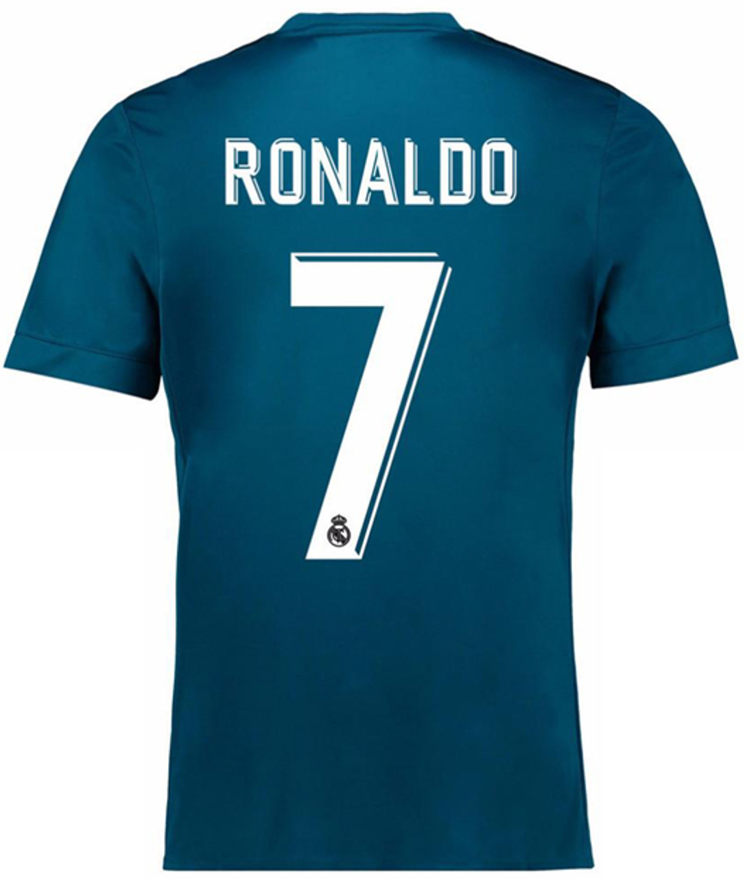 new product 8a2e4 760c7 ADIDAS REAL MADRID 2018 RONALDO 3RD JERSEY teal blue