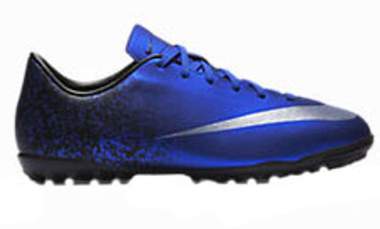 43c19a39ba8 NIKE JR MERCURIAL VICTORY V CR7 turf soccer shoes deep blue - Soccer ...