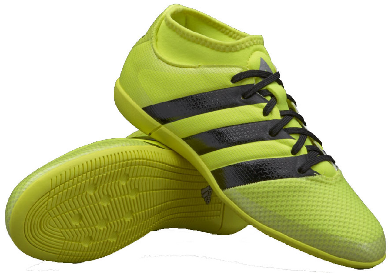 the latest 332e6 3f3e7 ADIDAS ACE 16.3 PRIMEMESH junior indoor shoes yellow