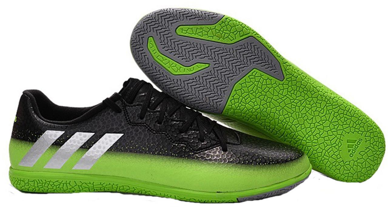 cc2b0746ed2a ADIDAS MESSI 16.3 Junior indoor shoes grey/green - Soccer Plus