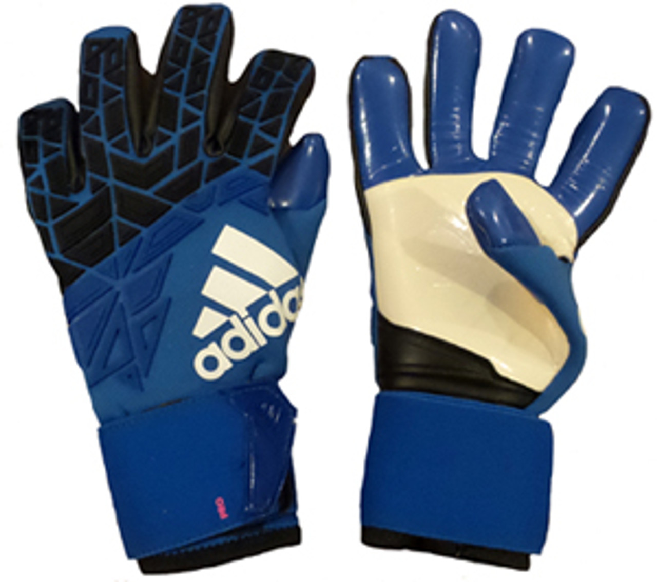ADIDAS ACE TRANS PRO goalkeeper soccer gloves black blue - Soccer Plus 948f6b85ae