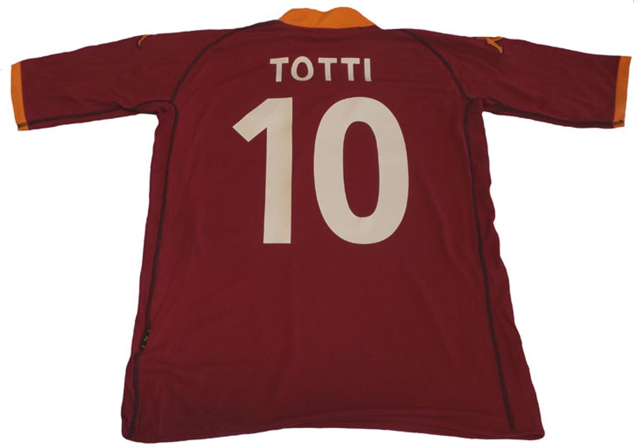 f1a3d753e KAPPA ROMA 2003 `TOTTI` HOME JERSEY Maroon - Soccer Plus