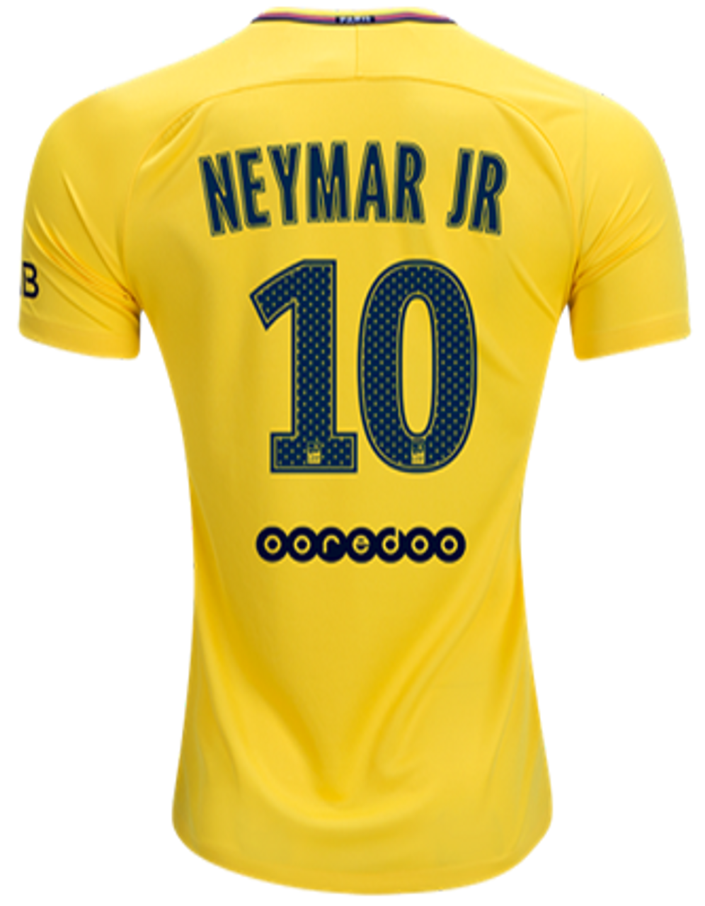 sports shoes 7bc3e b6fc6 NIKE PARIS SAINT GERMAIN 2018 NEYMAR YELLOW JERSEY
