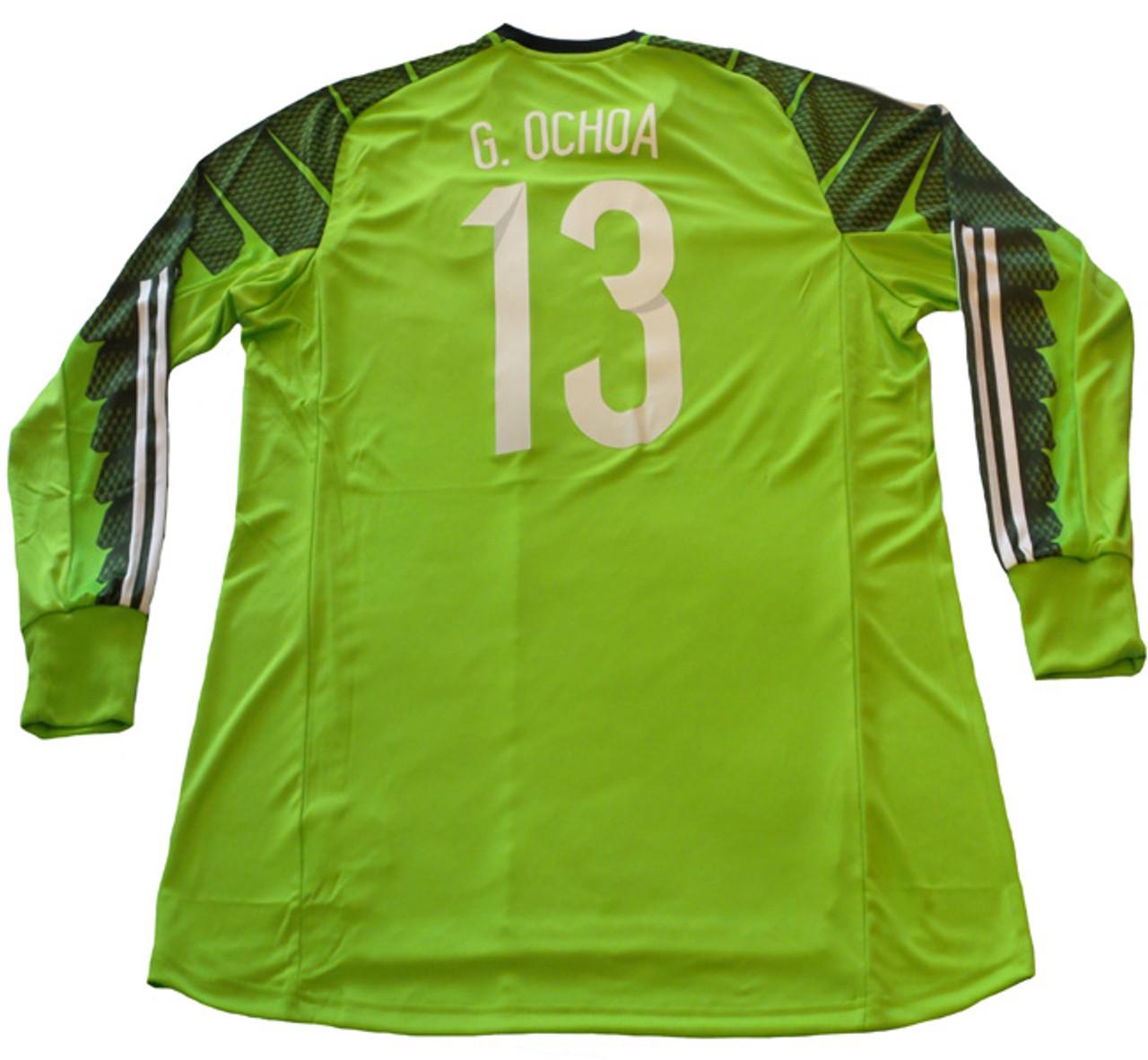 f5b4f773c ADIDAS MEXICO 2015 OCHOA HOME G K JERSEY - Soccer Plus