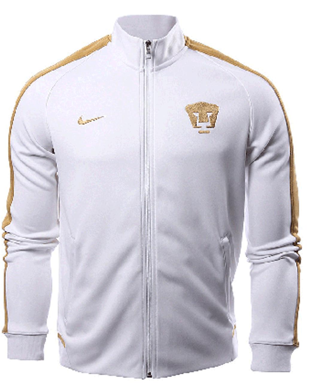 c7dbb3a64 NIKE PUMAS UNAM 2017 N98 JACKET WHITE GOLD - Soccer Plus