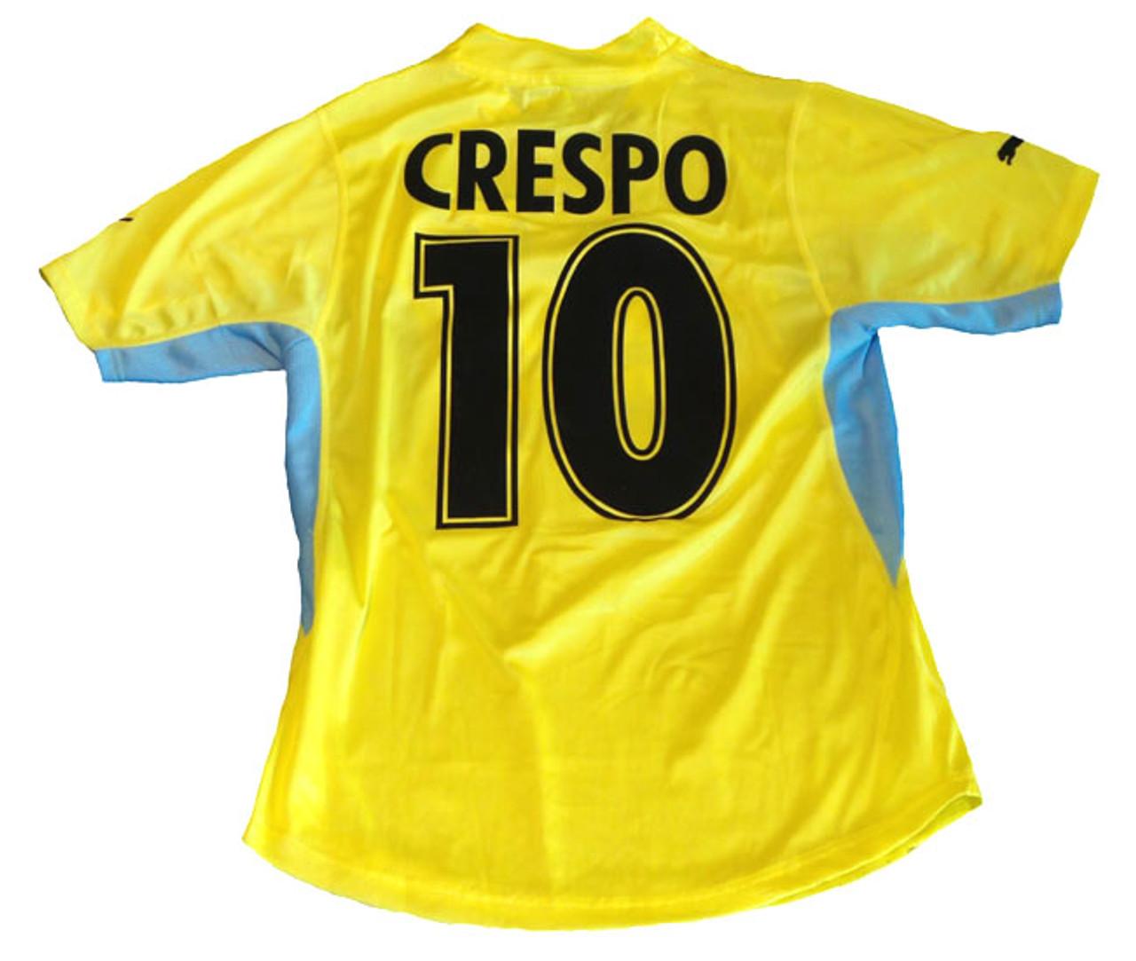 PUMA LAZIO 2002 AWAY `CRESPO` YELLOW JERSEY - Soccer Plus